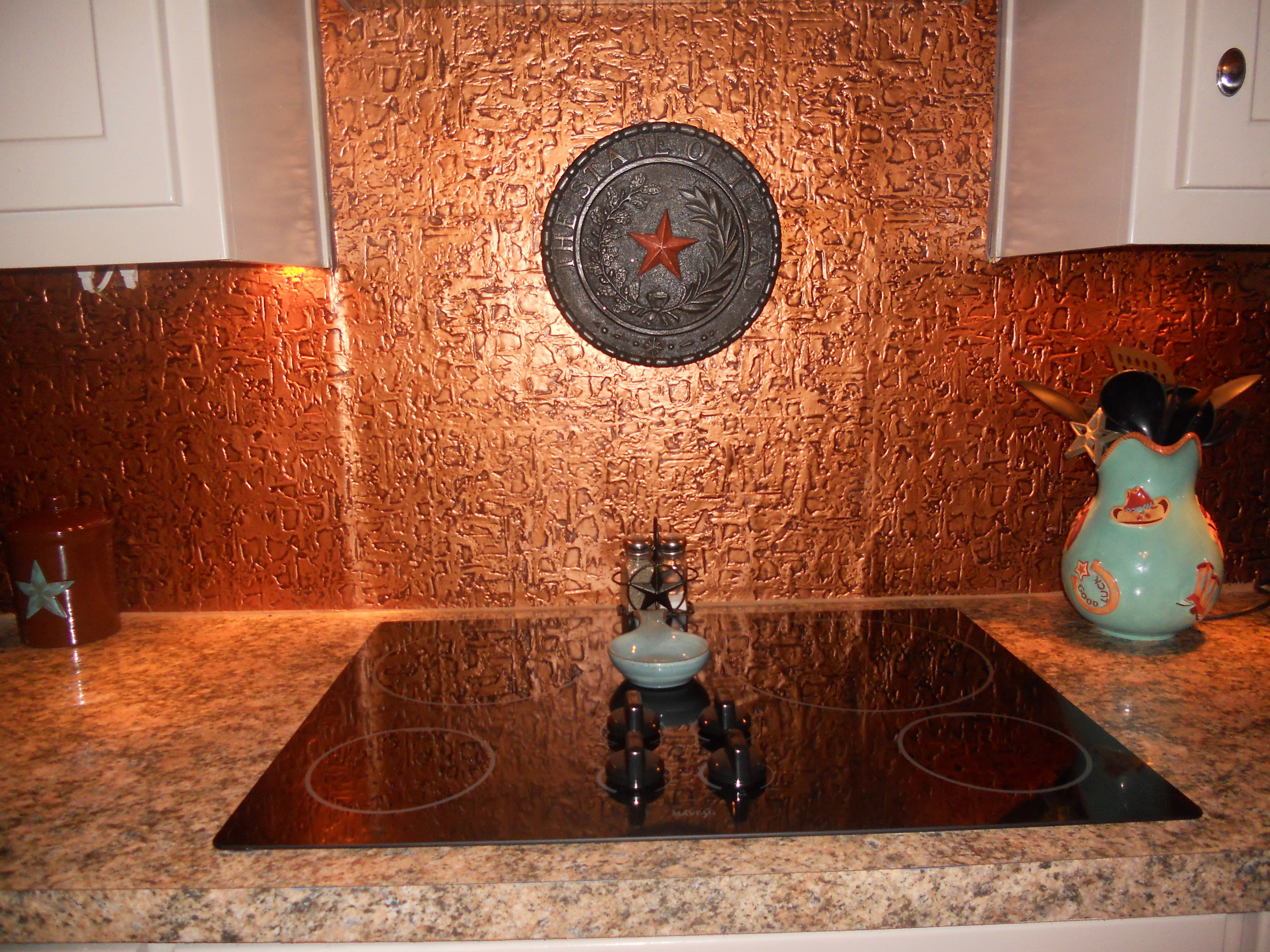 Wc40 Faux Tin Backsplash Roll Copper Backsplash