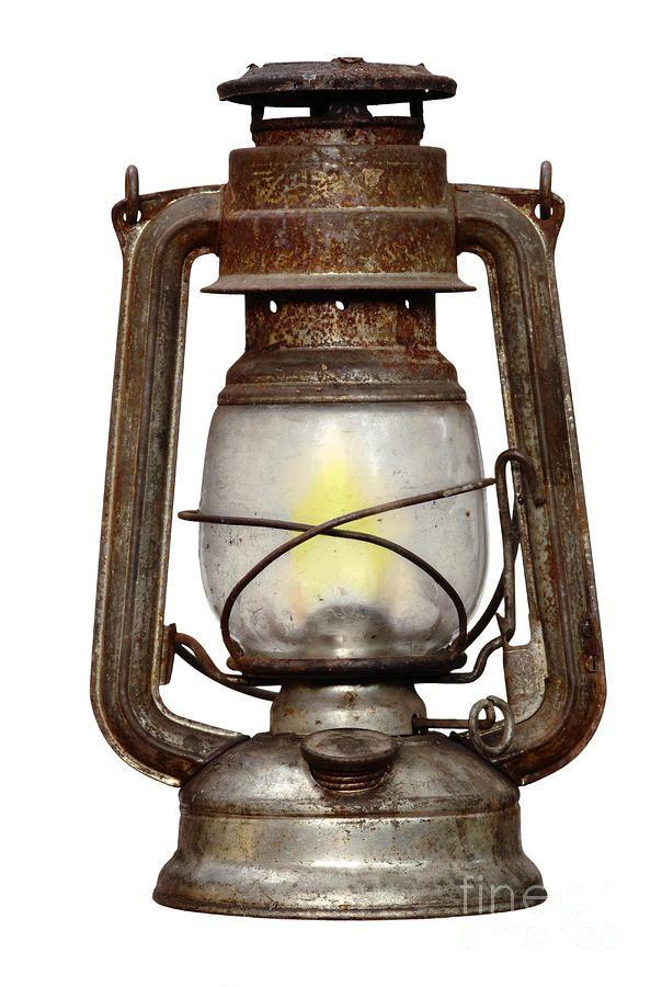 Old Kerosene Lamp Print By Michal Boubin