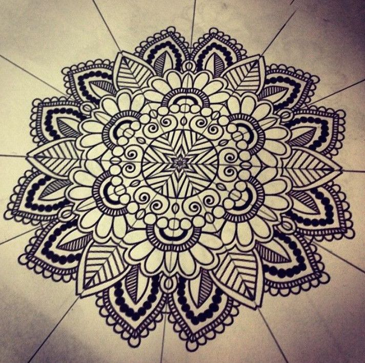 How To Draw Mandala Patterns Pletenje In 2019 Mandala Mandala