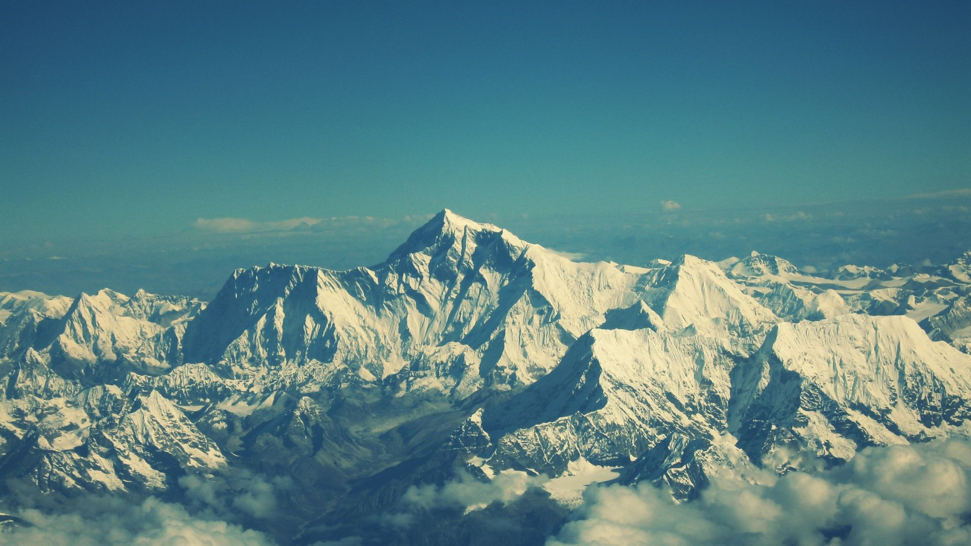 1920x1080 Wallpaper Everest Mountain Sky Tops Landscape Wallpaper Mountain Wallpaper Mountain Images