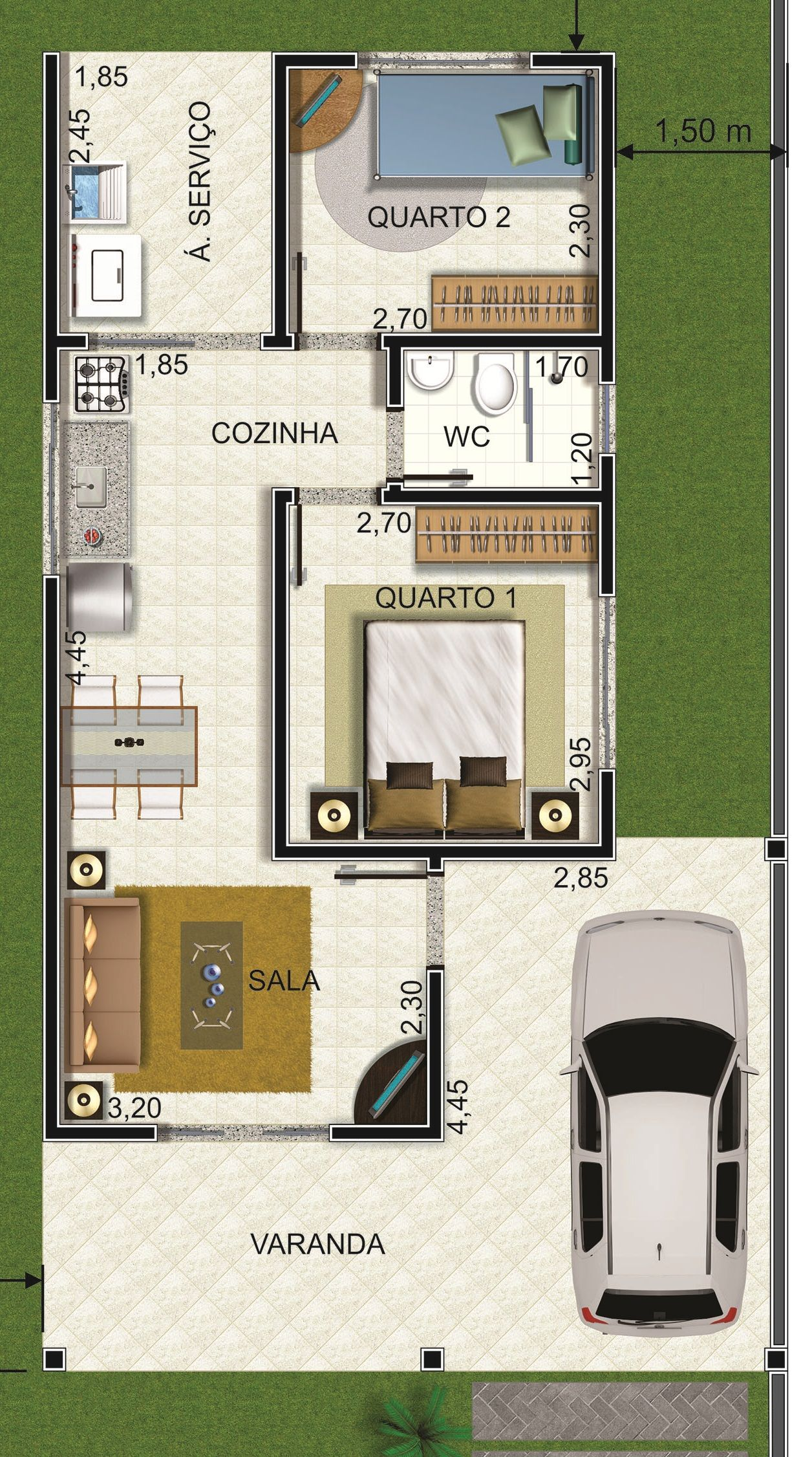 Floor Plan Of 15 Plantas Para Casas At 233 50 Mil Planos De Casa
