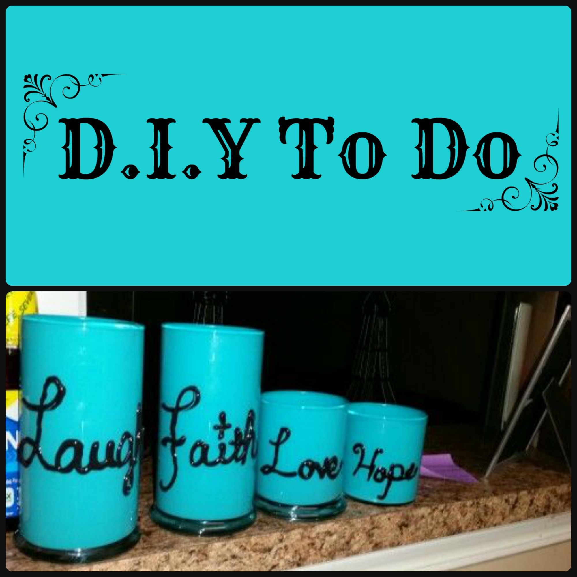 Cute cover photo and a project i created with yankee candle jars and