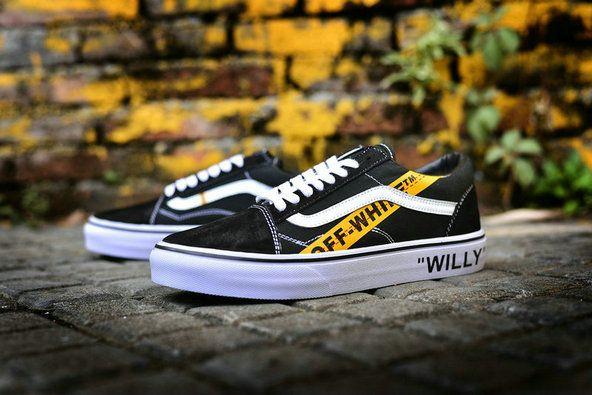 OFF WHITE x Vans Old Skool Willy Black Yellow Skateboard Shoe  Vans ... bcd08e1d86f