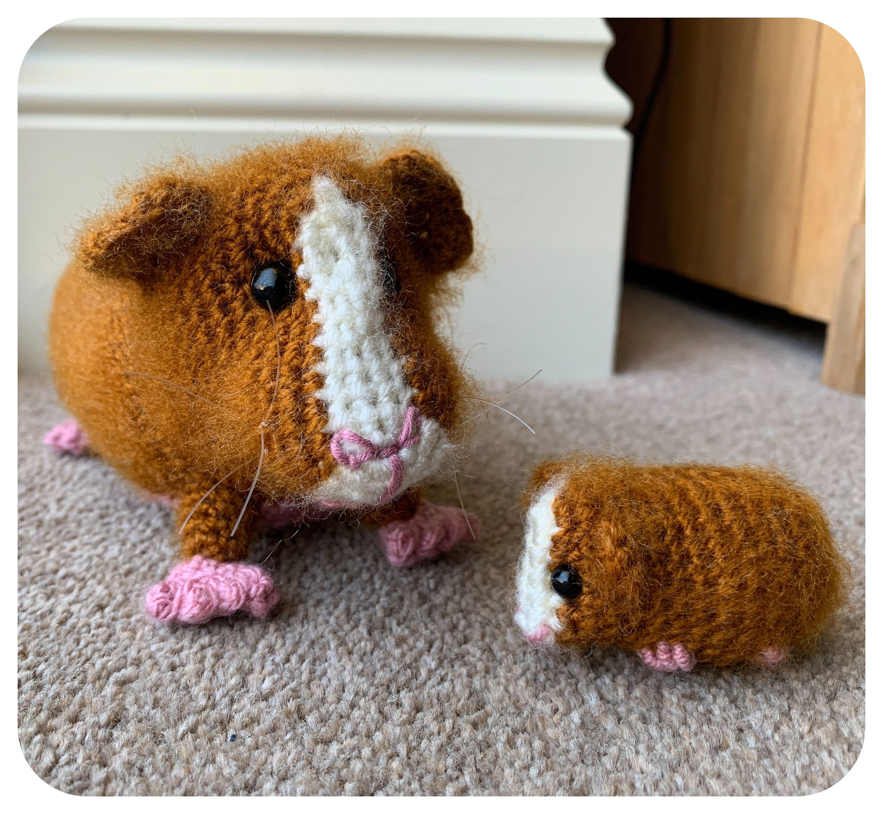 480+Guinea Pig with Baby Crochet Pattern