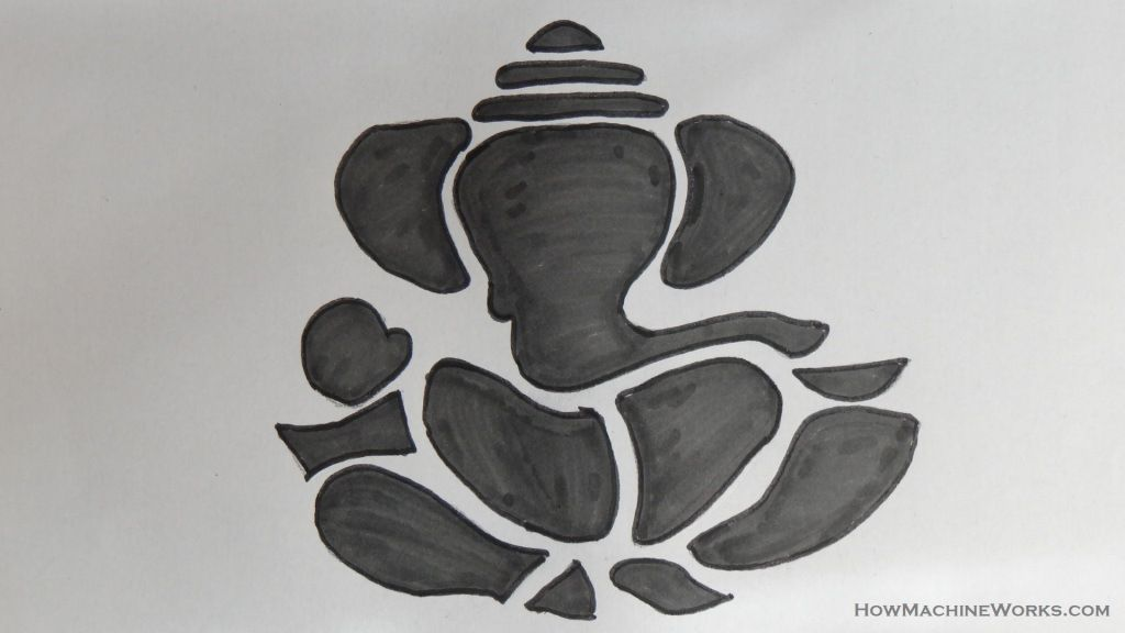 How to draw lord ganesha hindu god how