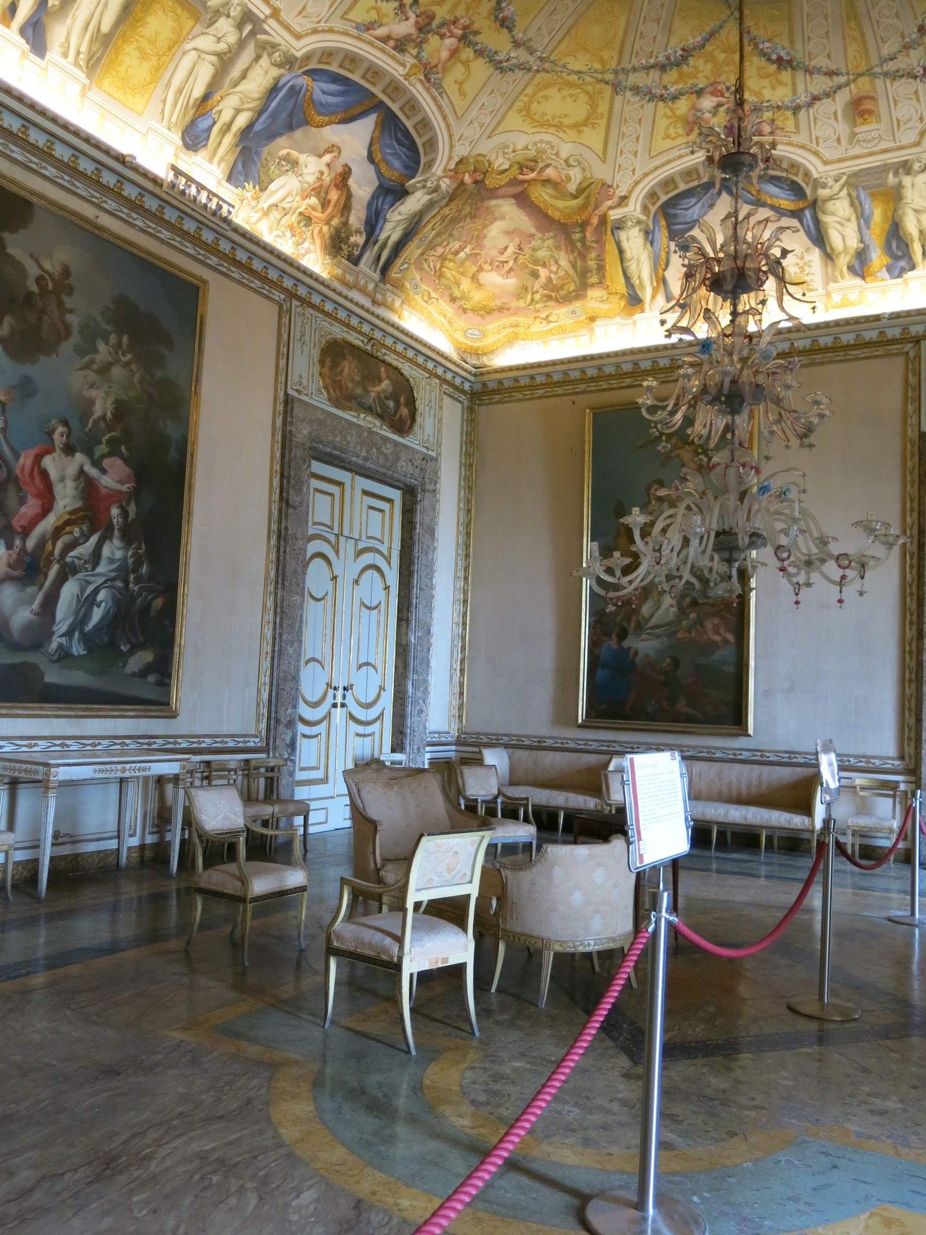 Royal Palace Of Caserta Italy A Room In The Apartments