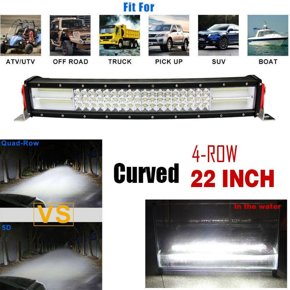 10d 22 1200w Cree Curved Led Work Light Bar Spot Flood Car Offroad Vs 20 22 24 Unbranded Led Work Light Bar Lighting Cree Led Light Bar