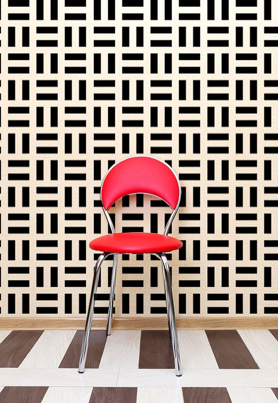 Retro Wall Decor Modern Geometric Wall Decals by WallStarGraphics - tapices modernos