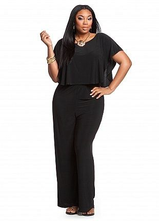Ashley Stewart Solid Popover Jumpsuit Fashion In 2018 Pinterest