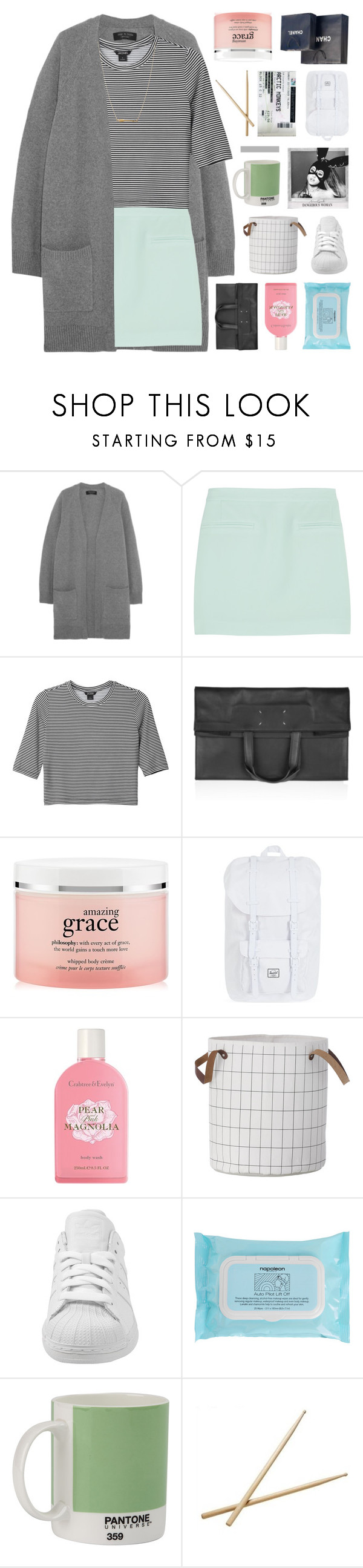 """""""GOLD DIGGER — GUESS WHO?"""" by sabad ❤ liked on Polyvore featuring rag & bone, T By Alexander Wang, Monki, Maison Margiela, philosophy, Herschel Supply Co., Crabtree & Evelyn, adidas, Napoleon Perdis and W2 Products"""