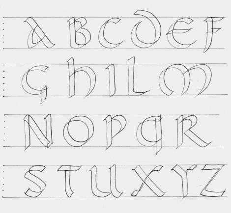 Practica De La Caligrafia Letra Uncial Romana S Iv Tipos De