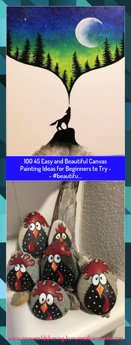 100 45 Easy and Beautiful Canvas Painting Ideas for Beginners to Try -   - #beautifu... #100 #Easy #and #Beautiful #Canvas #Painting #Ideas #for #Beginners #Try ##beautifu...
