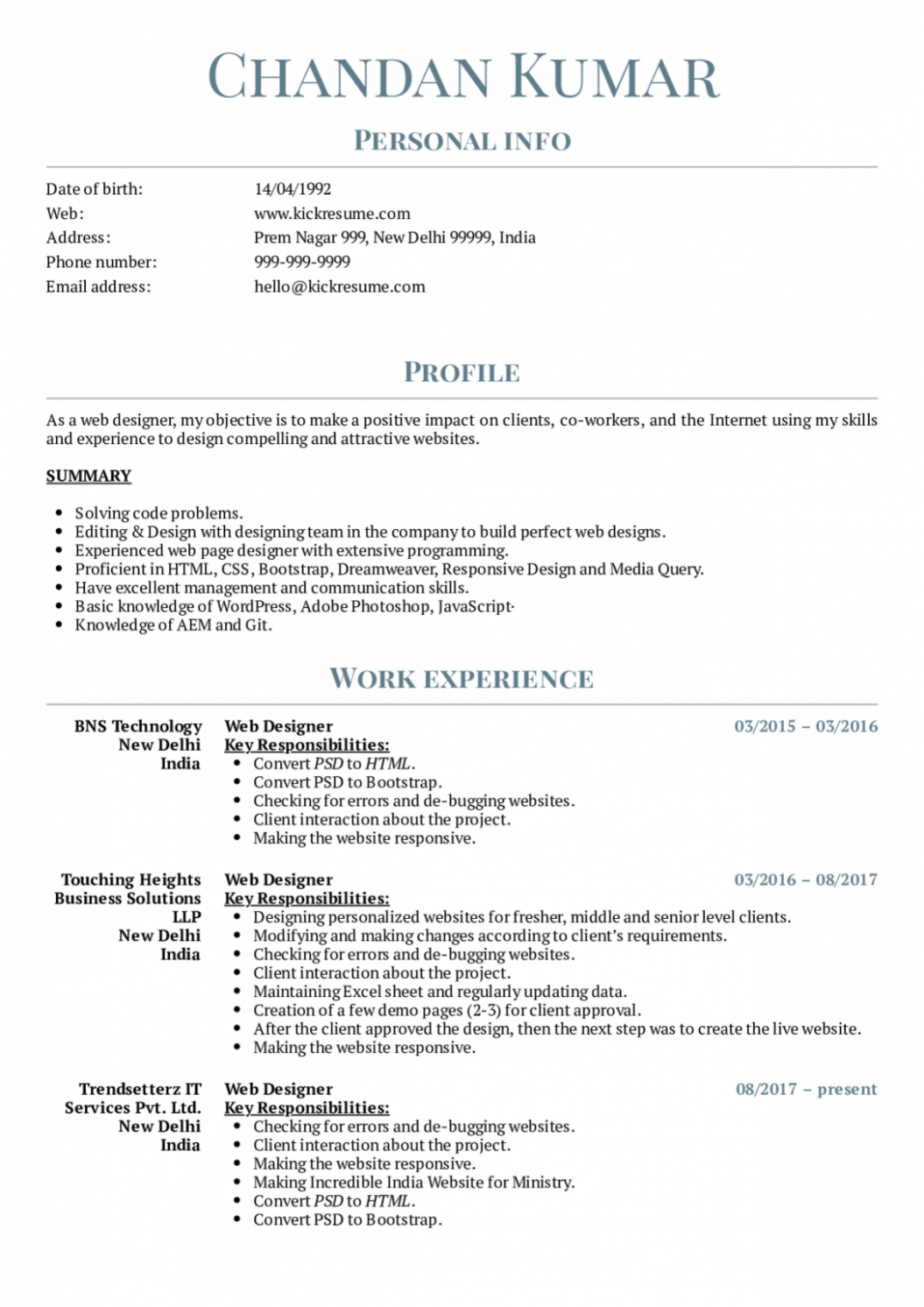 13 Resume Format Phrase Measurement