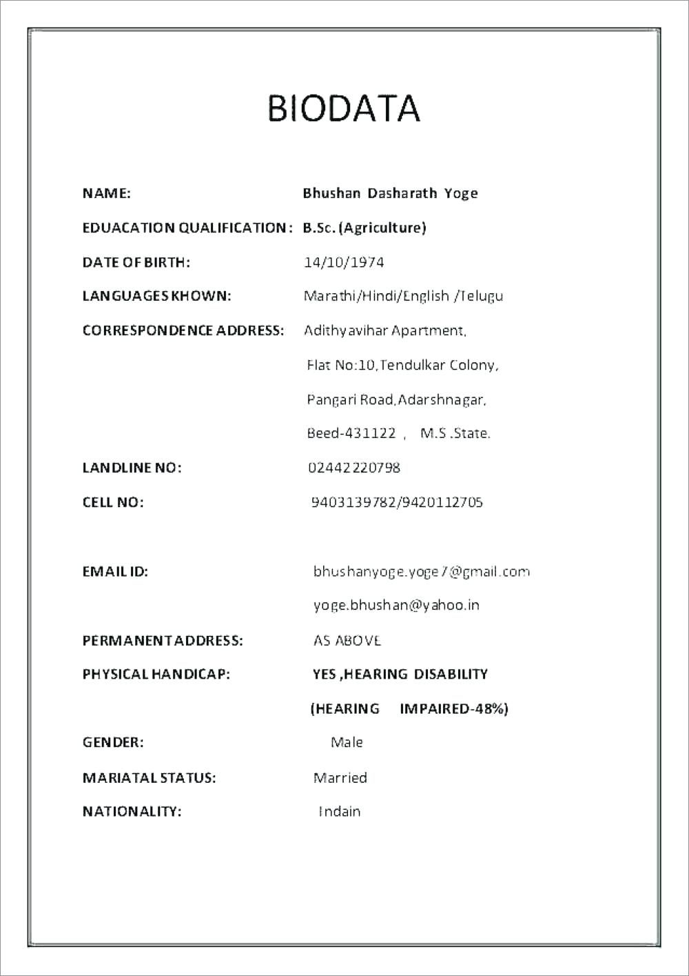 38+ Cv and resume difference in marathi Resume Examples