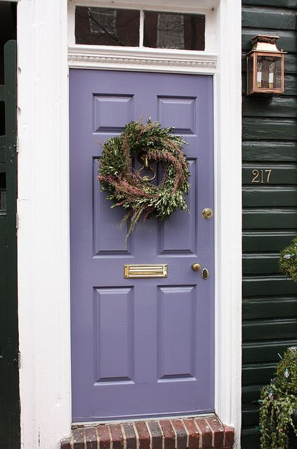 Lavender door....loving this! I want a pop of color for the inside of my front door & Lavender Door   Front doors Lavender and Doors