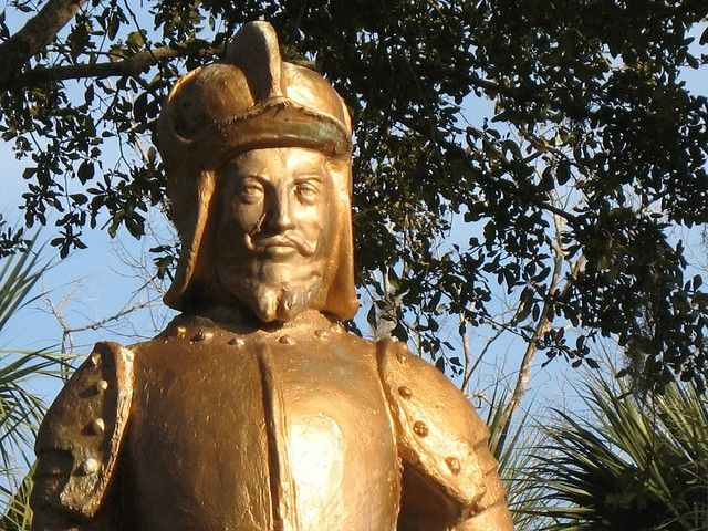 Bronze Ponce De Leon At The Fountain Of Youth Fountain Of Youth Ponce Bronze