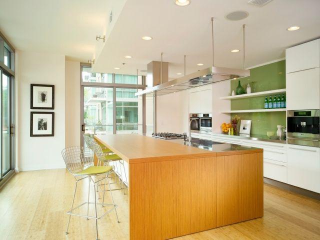 Küche Wandgestaltung Glas Spritzschutz in knalligen