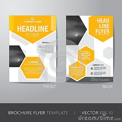 Corporate Hexagonal Brochure Flyer Design Layout Template In A - Brochure flyer templates