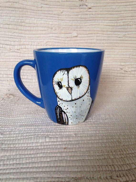 Hand painted barn owl   Barn owl, Owl spirit animal, Painting
