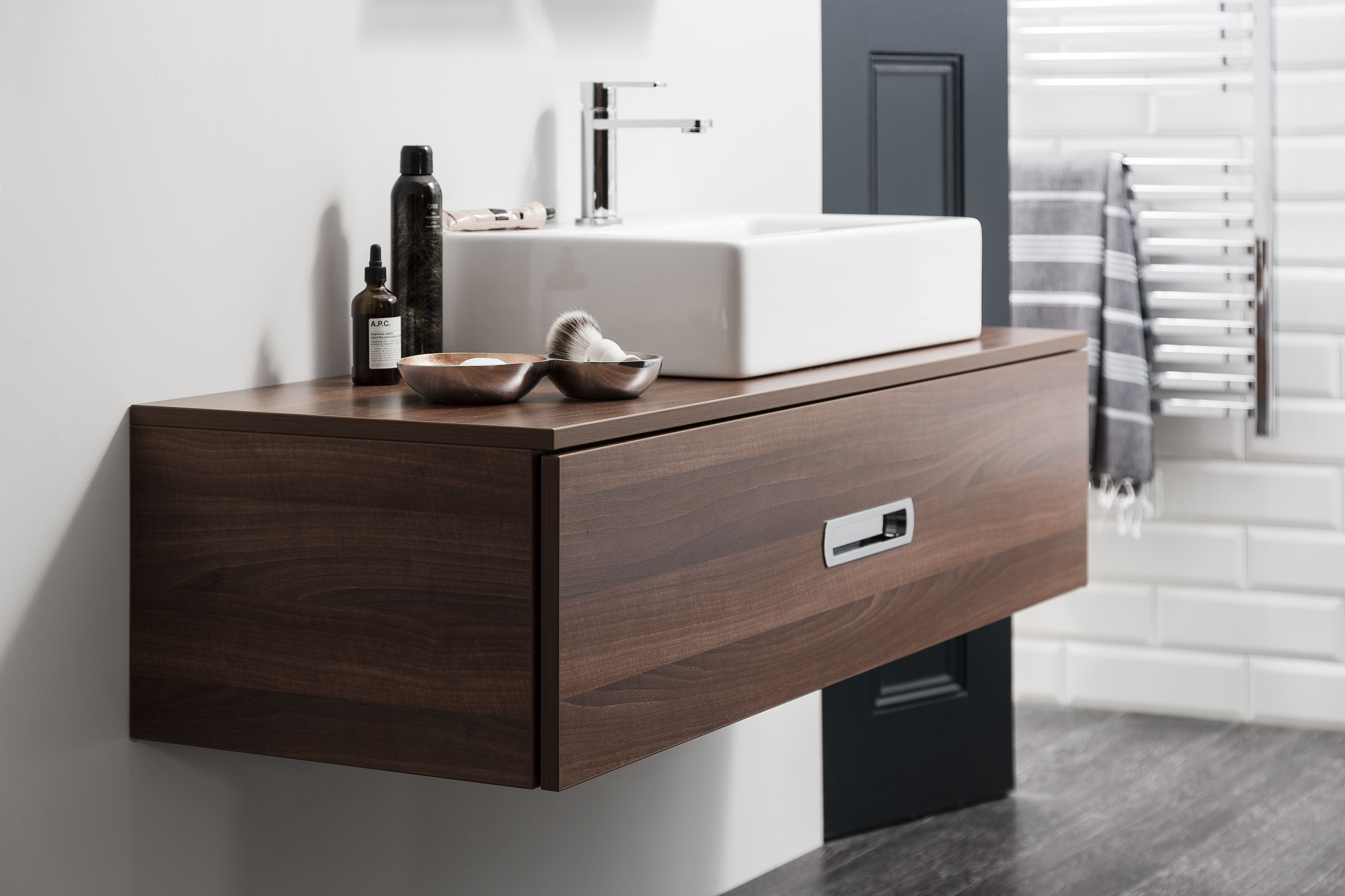Soften Contemporary Edges With Practical Wooden Bathroom Furniture - Bathroom furniture seattle