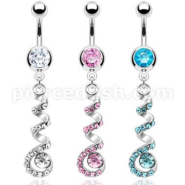 Pierced Fish Category Body Jewelry Belly Button Navel Rings