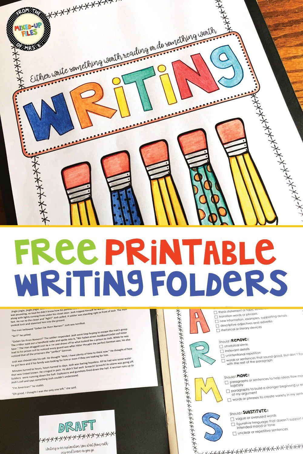writing workshop folder | middle school writing - great ideas