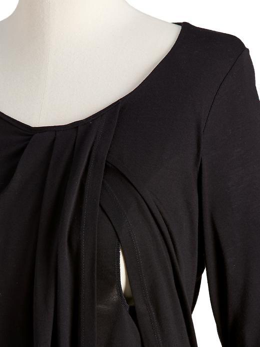 Maternity Short-Sleeved Jersey Nursing Tops Product Image