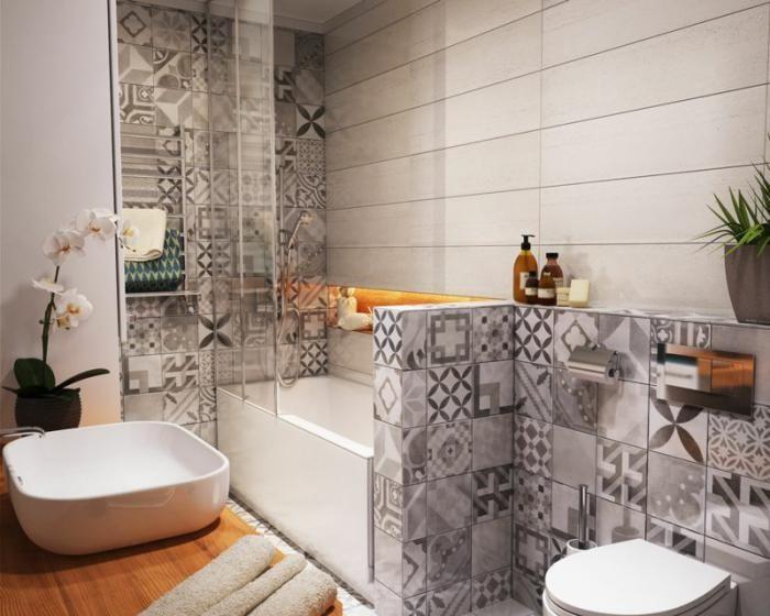 Lu0027 aménagement petite salle de bains nu0027est plus un problème - carrelage salle de bain petit carreaux
