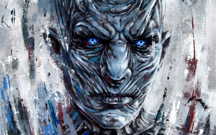 Download Wallpapers Night King Art White Walkers Game Of