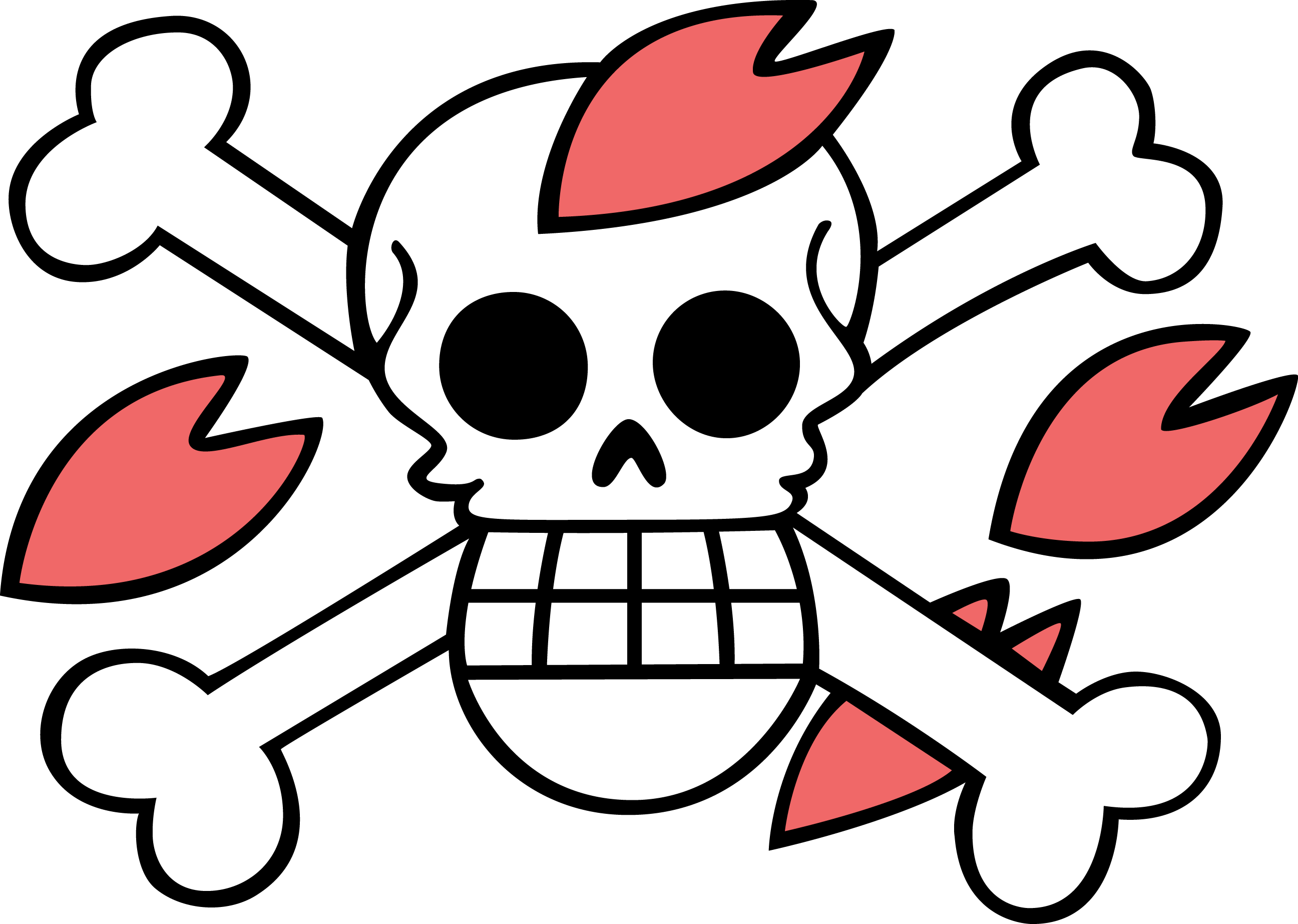 ONE PIECE JOLLY ROGER OF TONYTONY COPPER iphone case