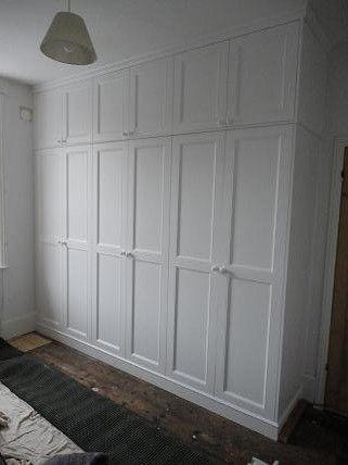 Spray Painted Wardrobe Floor To Ceiling