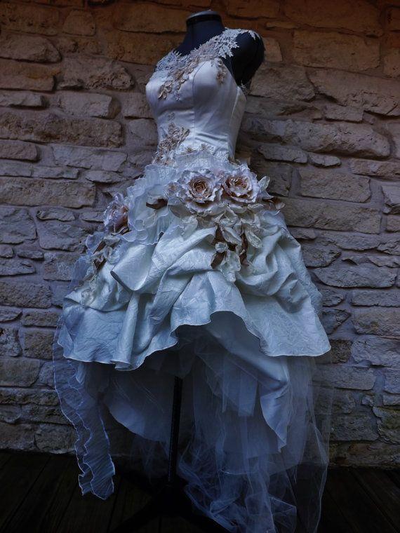 Für Anne-Marie weiß Elfenbein Creme Rosen, die viktorianischen Short ...
