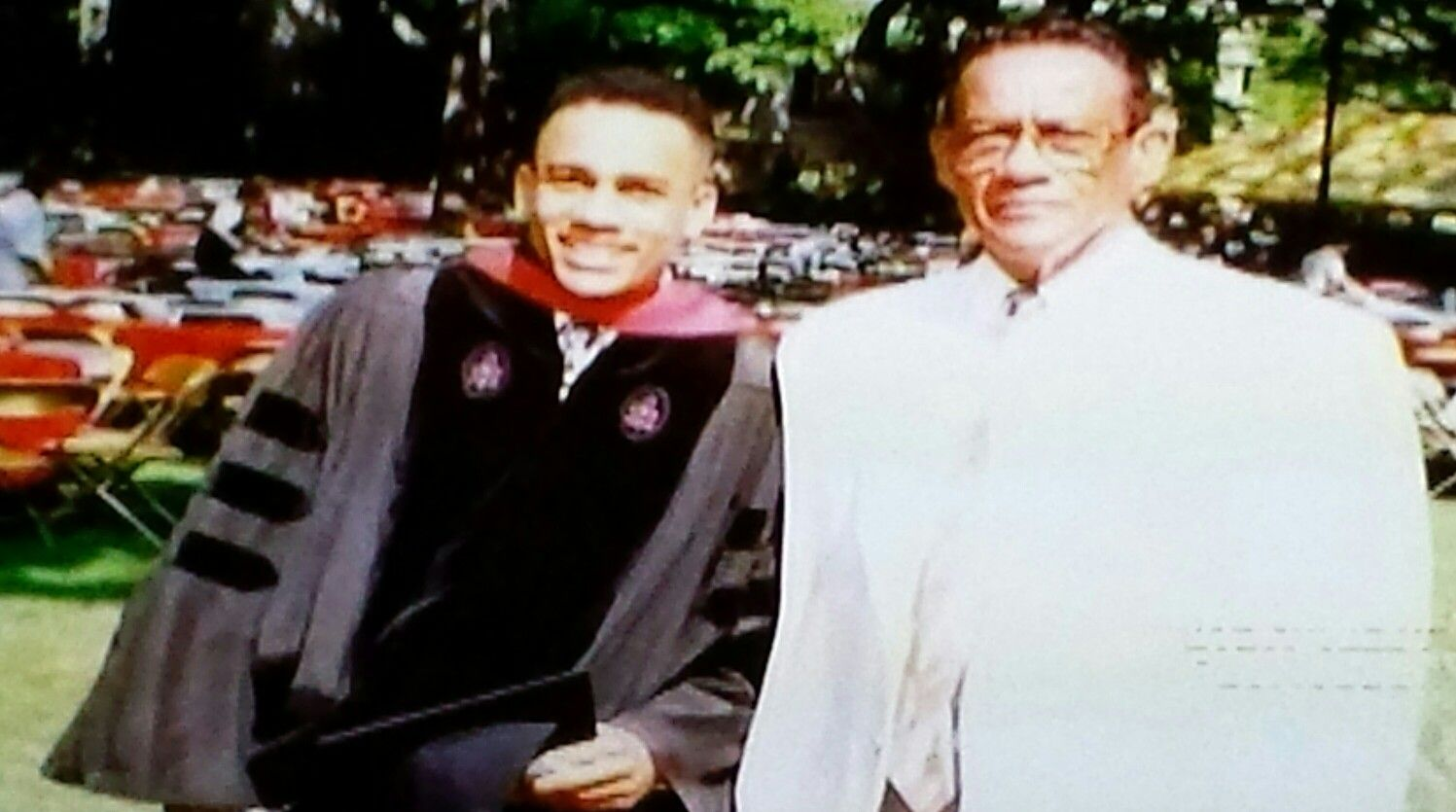 Hill Harper With His Father