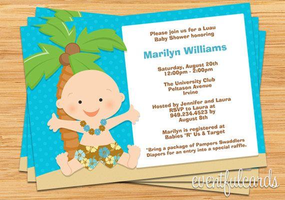 Luau baby shower invitation baby showers pinterest luau baby luau baby shower invitation by eventfulcards on etsy 1499 filmwisefo