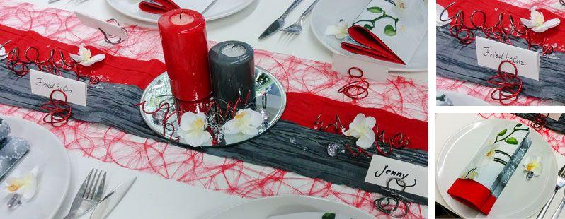 Rot grau tischdeko pinterest tischdekorationen grau for Wohnzimmer deko rot grau