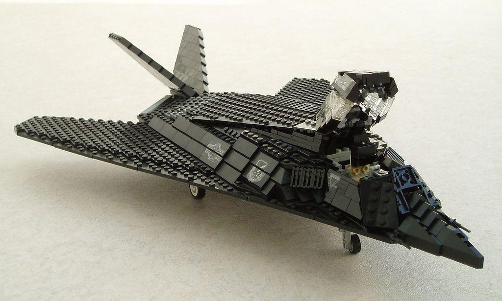 F117A Nighthawk updated (3) Lego creations, Lego plane