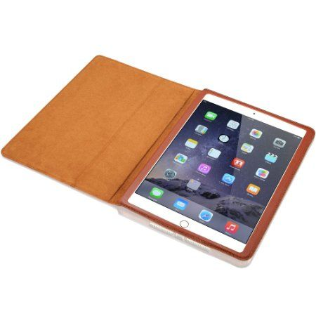 Amazon Com Kavaj Ipad Air 2 Leather Case Cover Quot Berlin Quot Cognac Brown Genuine Leather With Stand Up Feature T Apple Ipad Air Ipad Air 2 Cases Ipad