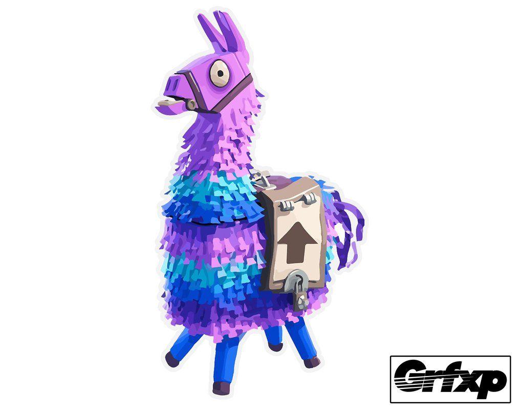 Loot Lama Fortnite Printed Sticker Llama Images Llama Llama Arts
