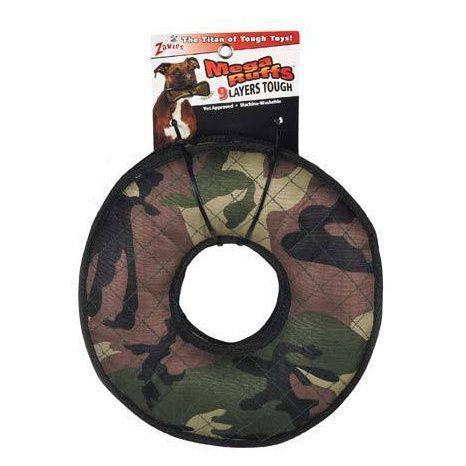 Zanies MegaRuffs Camo Tire Dog Toy