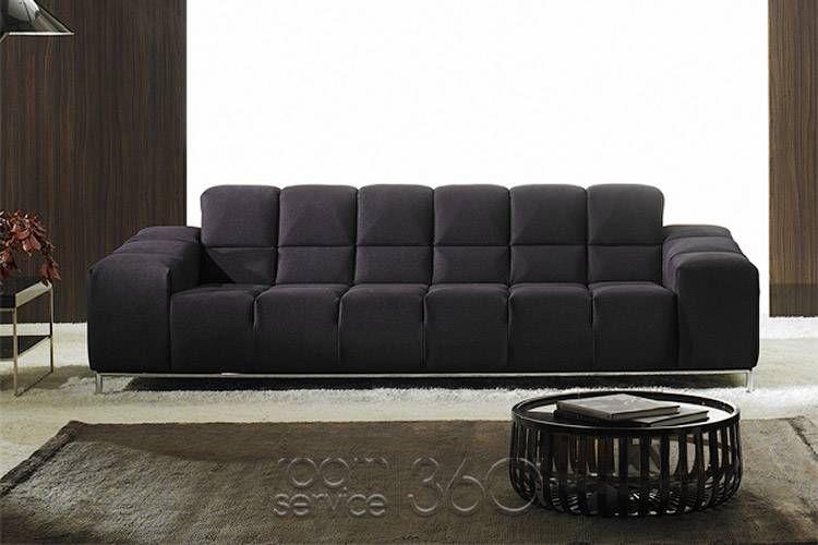 Panda Modern Italian Sofa By Polaris 17359 Italian Leather Sofa