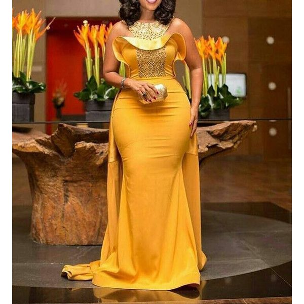 8fd2138af46 Formal Prom · Mustard yellow dress with cape African dresses African maxi  dress... ( 250)