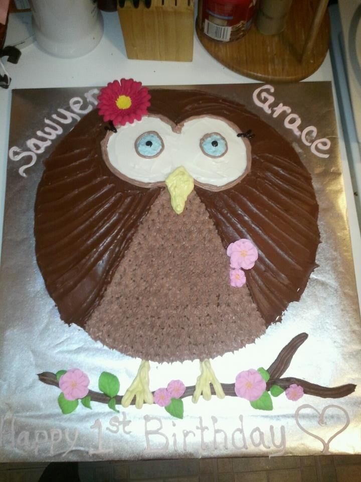 Owl Cake My cakes Pinterest Owl cakes Cake and Easy