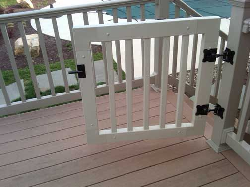 Vinyl Railing Gate Kit Deck Gate Porch Gate Vinyl Deck