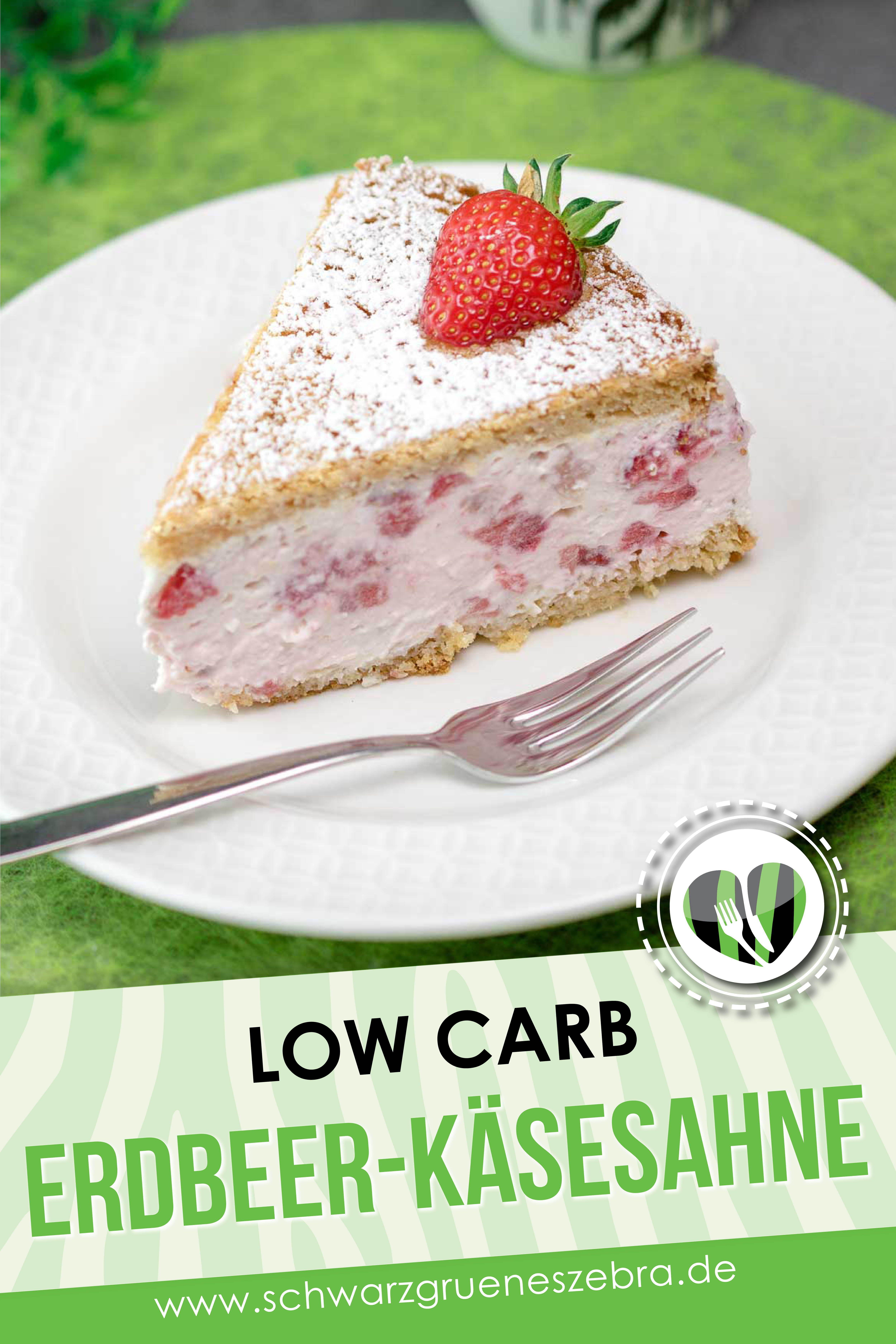 Photo of Erdbeer-Käsesahnetorte – Low Carb – LCHF – Keto