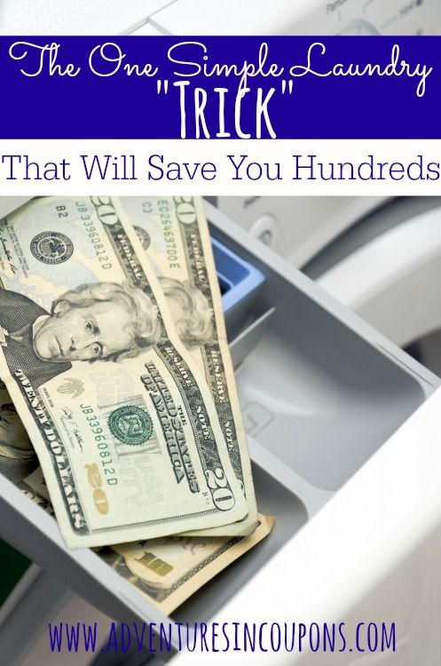 """Spending too much on laundry? This one very simple """"trick"""" can save you hundreds per year!"""