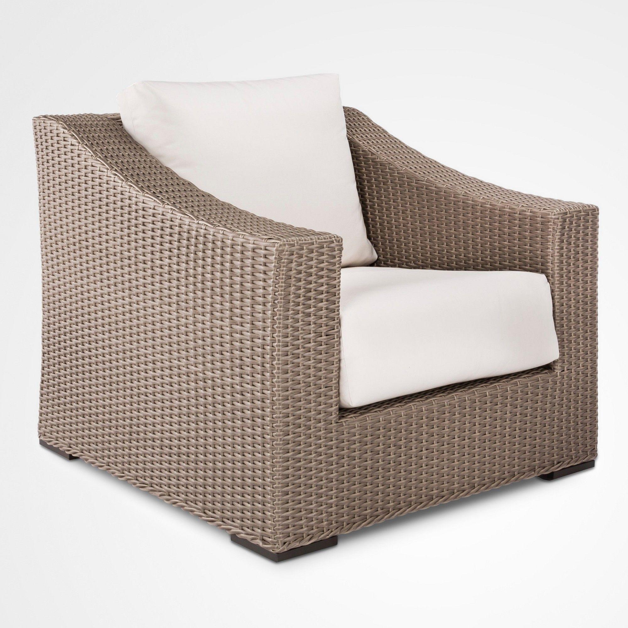 Premium Edgewood Wicker Patio Club Chair Gray Smith