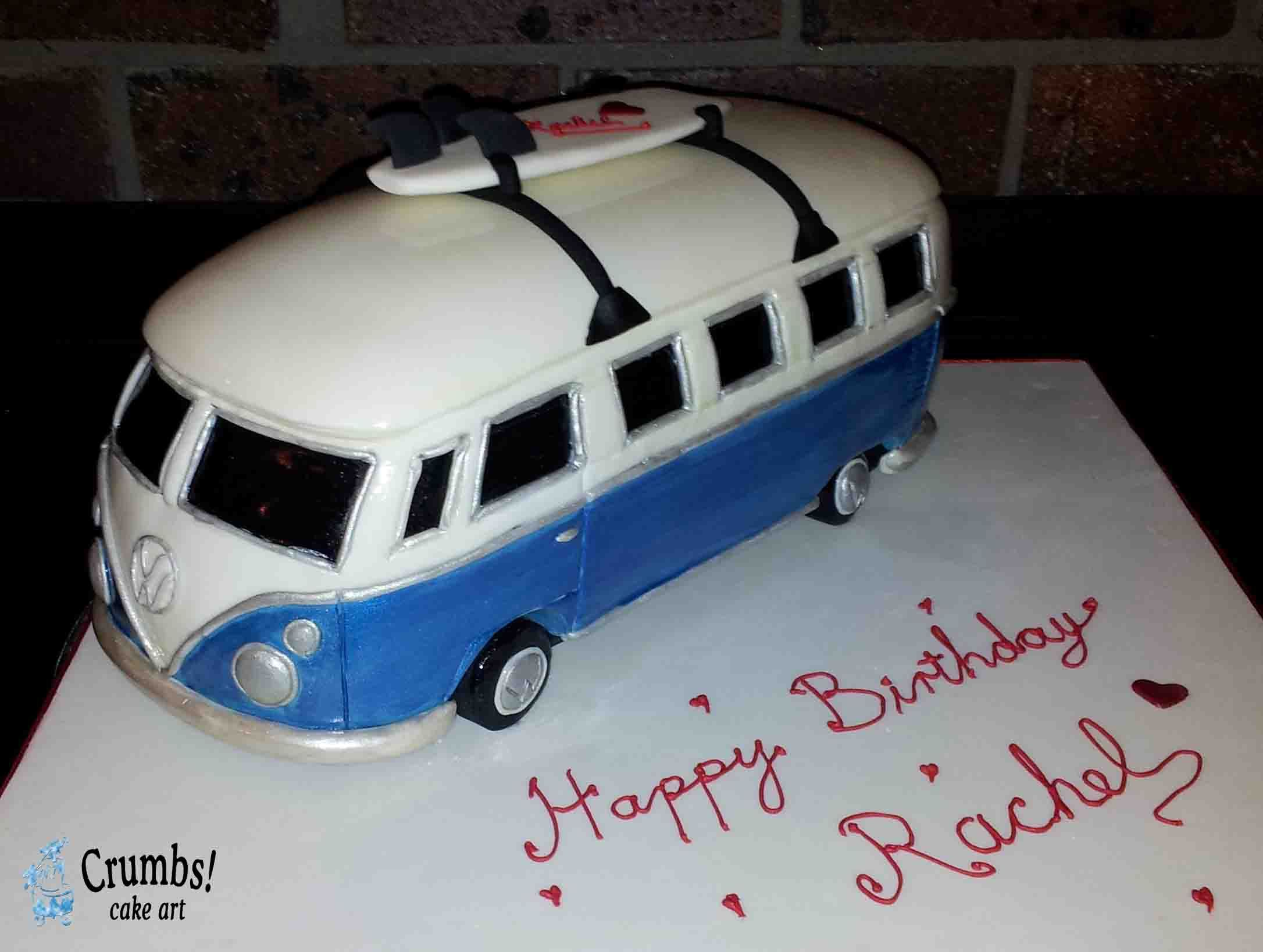 Custom Made Combi Van Cake Crumbs Art Amazing Wedding