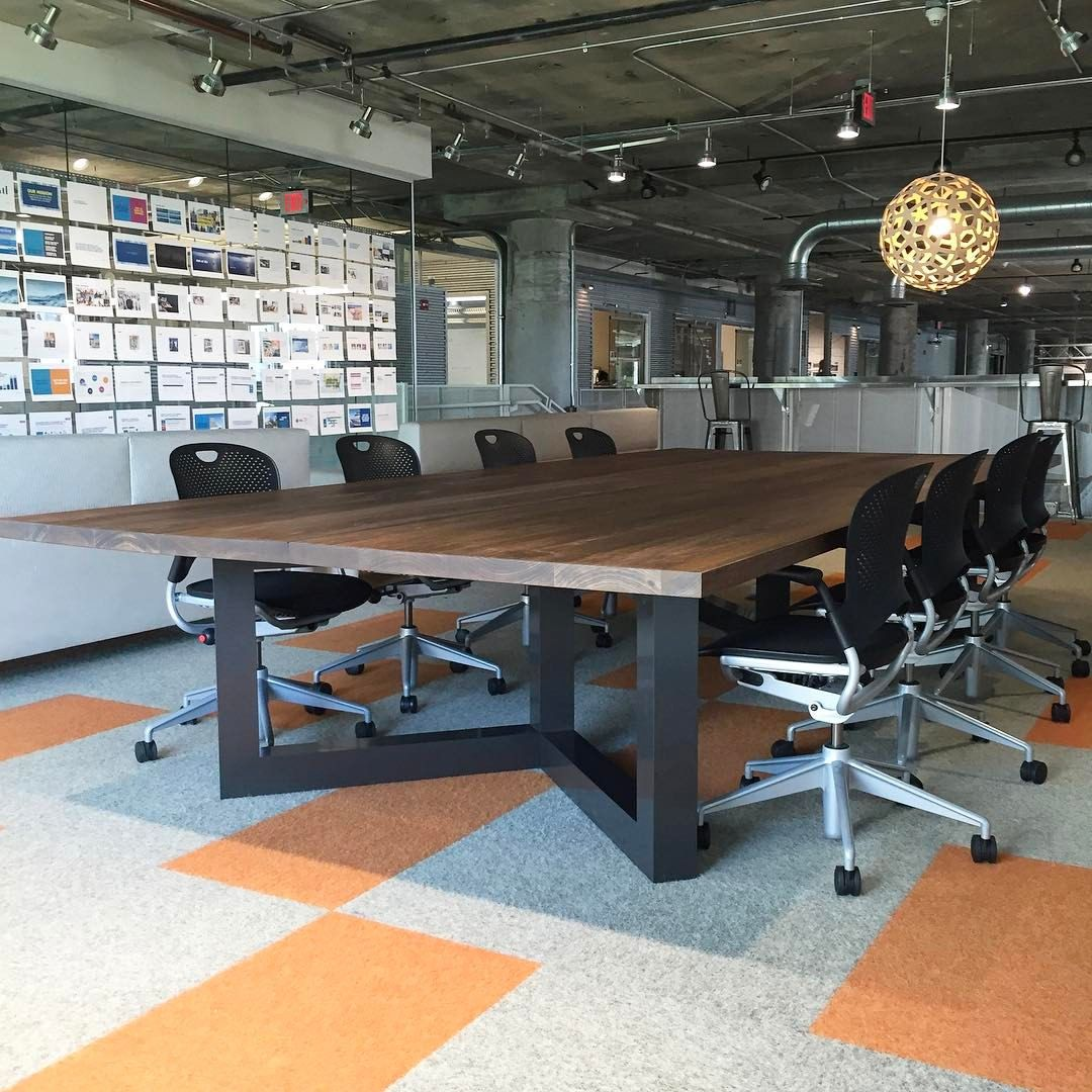coachup | boston | custom industrial conference table | photo