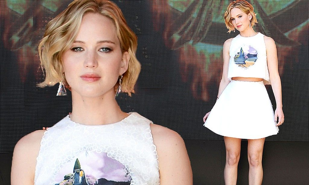 Jennifer Lawrence at The Hunger Games: Mockingjay Part 1 photo-call