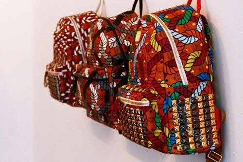 Ankara backpack #african